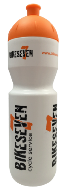Bikeseven Water Bottle (White)